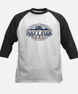 Navy Pier Oval Stylized Skyline design Tee