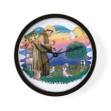 St Francis #2/ Shih Tzu #8 Wall Clock