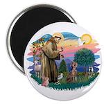 St Francis #2 / Weimaraner Magnet