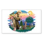 St Francis #2 / Weimaraner Sticker (Rectangle)