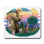 St Francis #2 / Weimaraner Mousepad