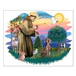 St Francis #2 / Weimaraner Small Poster