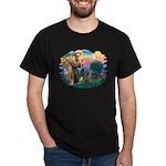 St Francis #2 / Weimaraner Dark T-Shirt