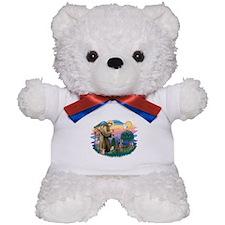 St Francis #2 / Weimaraner Teddy Bear