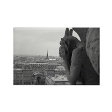 Notre Dame Gargoyle Rectangle Magnet