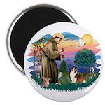 St. Francis #2 / Sheltie (sw) Magnet