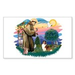 St. Francis #2 / Sheltie (sw) Sticker (Rectangle 1