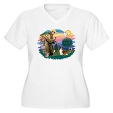 St. Francis #2 / Sheltie (sw) T-Shirt