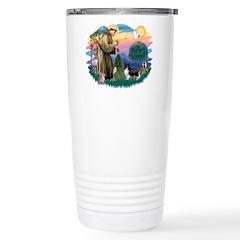 St. Francis #2 / Sheltie (bb) Travel Mug
