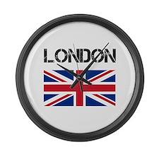 London Union Jack Large Wall Clock