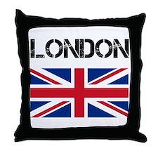 London Union Jack Throw Pillow