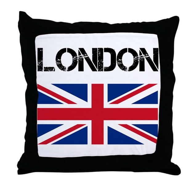 London Union Jack Throw Pillow By Cpgraphics