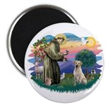 St. Francis #2 / Yellow Lab Magnet