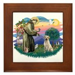 St. Francis #2 / Yellow Lab Framed Tile