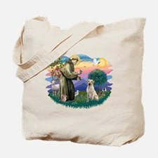 St. Francis #2 / Yellow Lab Tote Bag