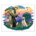 St. Francis #2 / Yellow Lab Small Poster