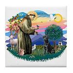 St.Francis #2 / Black Lab Tile Coaster