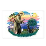 St.Francis #2 / Black Lab Postcards (Package of 8)