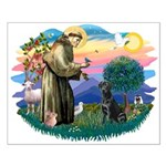 St.Francis #2 / Black Lab Small Poster