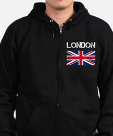 London Union Jack Zip Hoodie (dark)