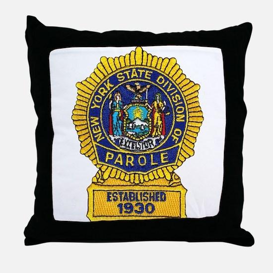 New York Parole Officer Throw Pillow