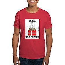 Danish Oil Patch T-Shirt,Denmark,Oil,Rig