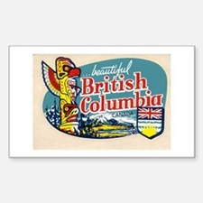 British Columia Retro Travel Decal