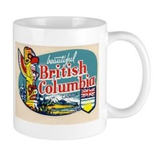 Retro British Columbia Canada Mug
