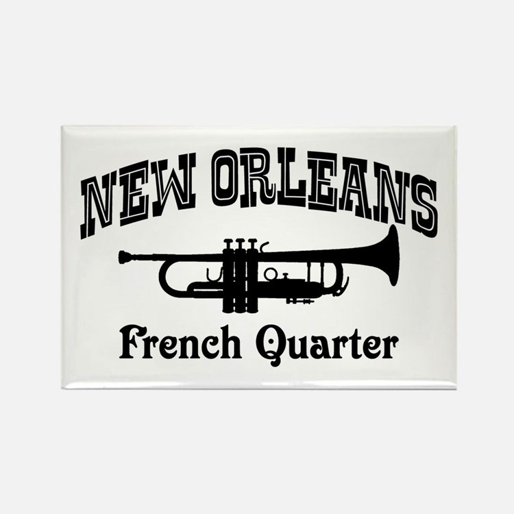 New Orleans French Quarter Rectangle Magnet