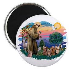 St Francis #2/ Yorkies (4) Magnet