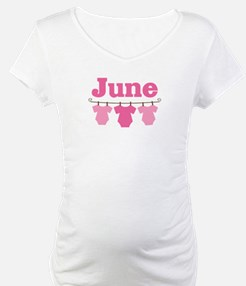 Pink June Baby Announcement Shirt