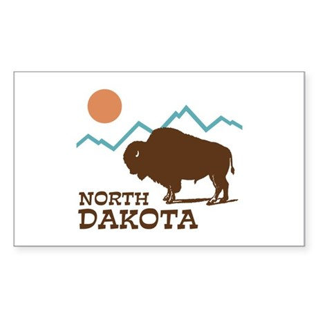 North Dakota Sticker (Rectangle)