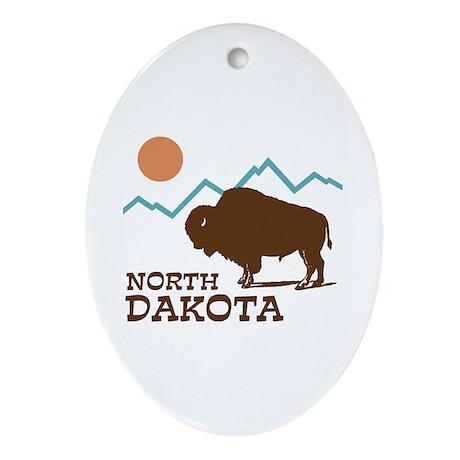 North Dakota Ornament (Oval)