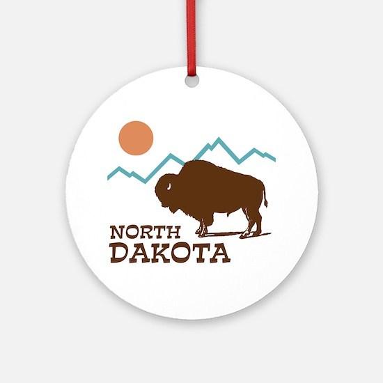 North Dakota Ornament (Round)