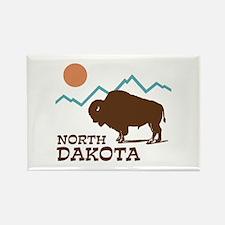North Dakota Rectangle Magnet