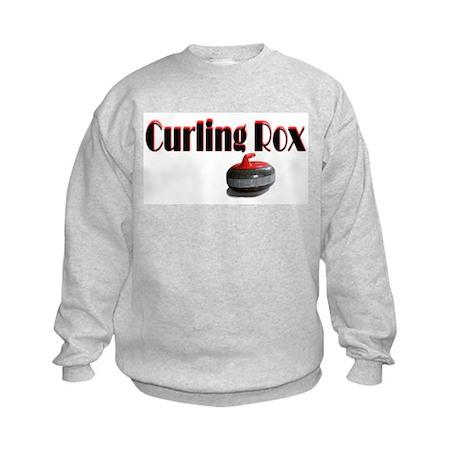 Curling Rox Kids Sweatshirt