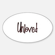 Unloved Oval Decal