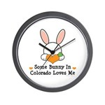 Some Bunny In Colorado Loves Me Wall Clock