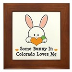Some Bunny In Colorado Loves Me Framed Tile