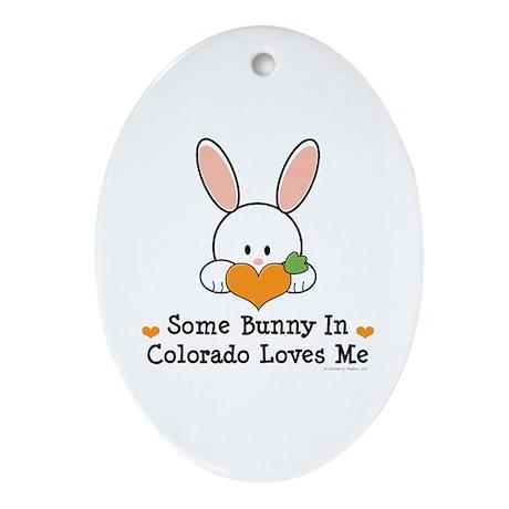Some Bunny In Colorado Loves Me Ornament (Oval)