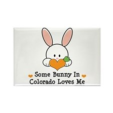 Some Bunny In Colorado Loves Me Rectangle Magnet