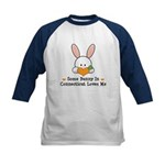Some Bunny In Connecticut Kids Baseball Jersey