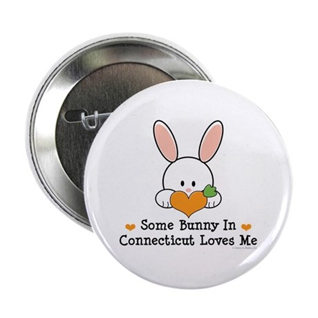"""Some Bunny In Connecticut 2.25"""" Button"""