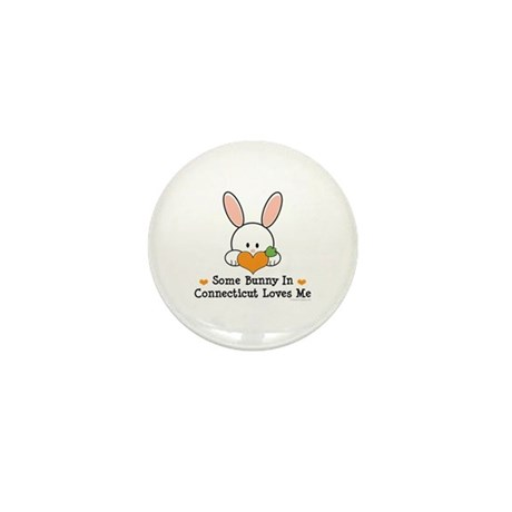 Some Bunny In Connecticut Mini Button