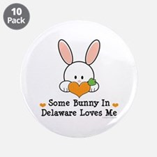 "Some Bunny In Delaware Loves Me 3.5"" Button (10 pa"