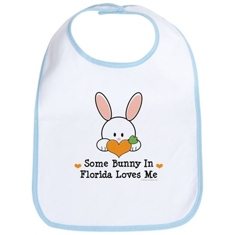 Some Bunny In Florida Loves Me Bib