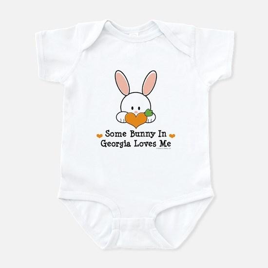 Some Bunny In Georgia Loves Me Infant Bodysuit