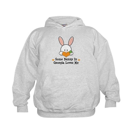 Some Bunny In Georgia Loves Me Kids Hoodie