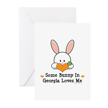 Some Bunny In Georgia Loves Me Greeting Cards (Pk