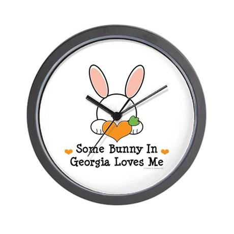 Some Bunny In Georgia Loves Me Wall Clock